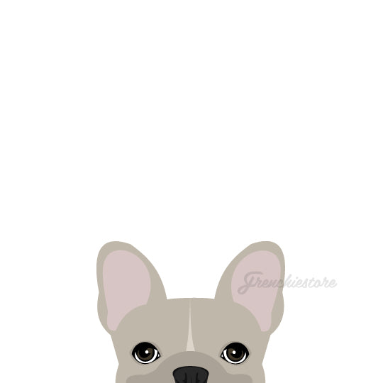 Autocollant Frenchie | Frenchiestore | Sticker crème voiture w / line bouledogue français