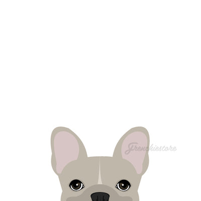 Frenchie Sticker | Frenchiestore | Cream W/ Line French Bulldog Car Decal
