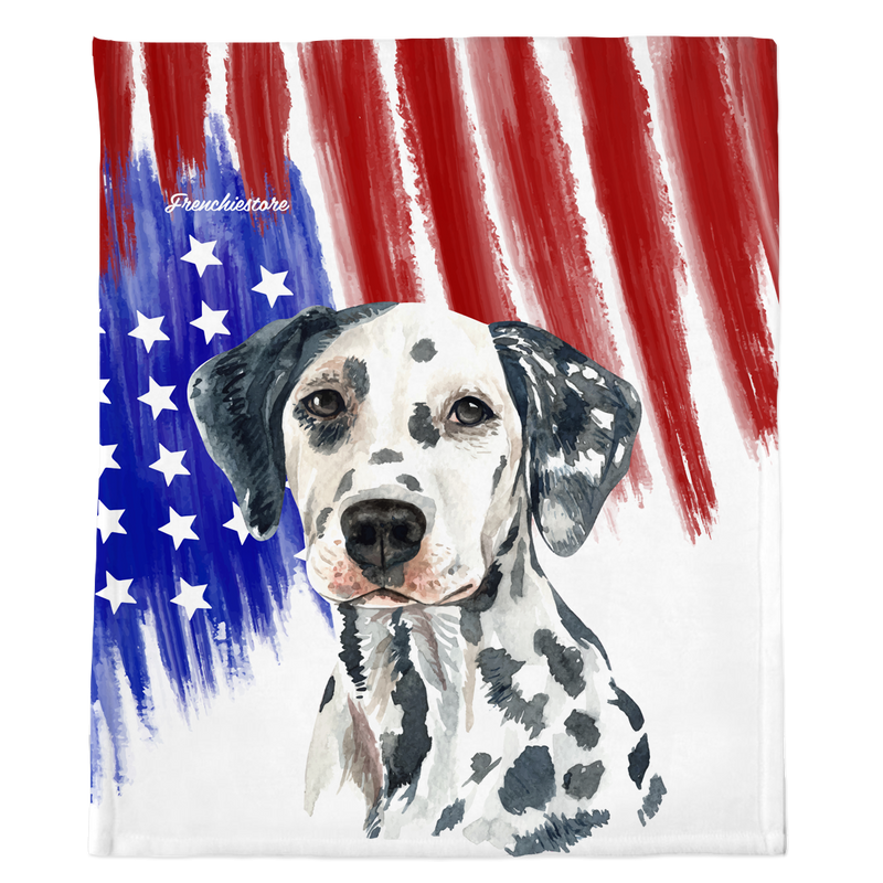 Dalmatian dog breed blanket