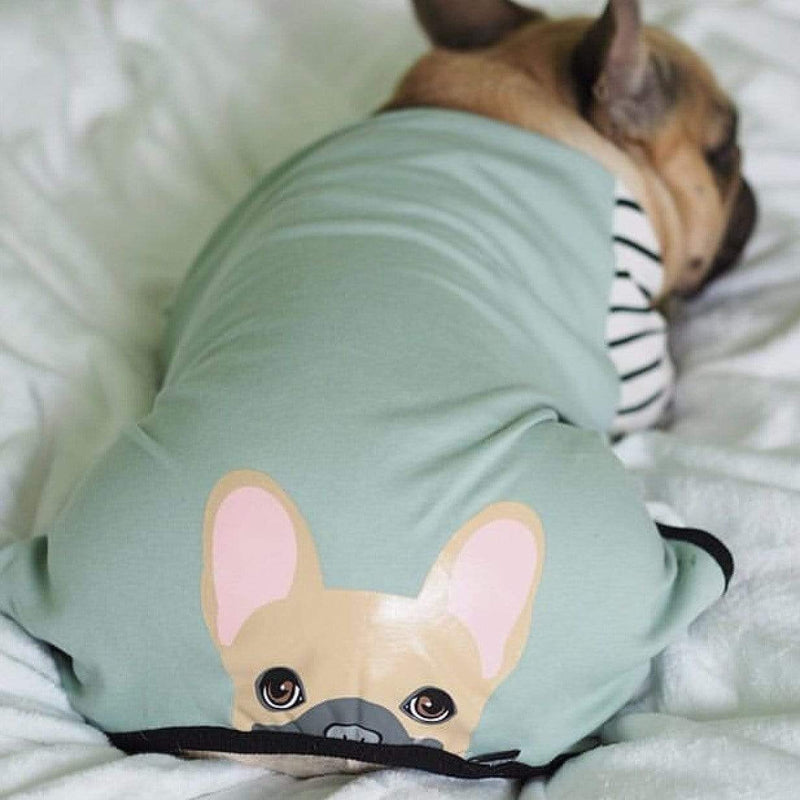 French Bulldog Pajamas | Frenchie Clothing | Fawn Frenchie dog