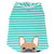 Frenchie Shirt | Frenchiestore | Fawn French Bulldog in Aquamarine