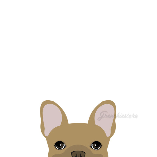 Autocollant Frenchie | Frenchiestore | Sticker voiture fauve bouledogue français