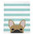 Frenchie Blanket | Frenchiestore | Peeking Fawn Bulldog francés en verde azulado