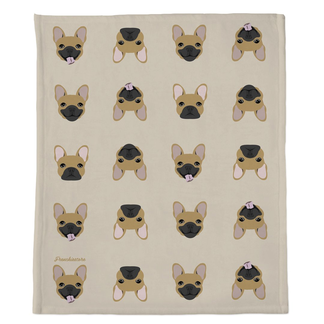 Frenchie Blanket | Frenchiestore | Fawn French Bulldog