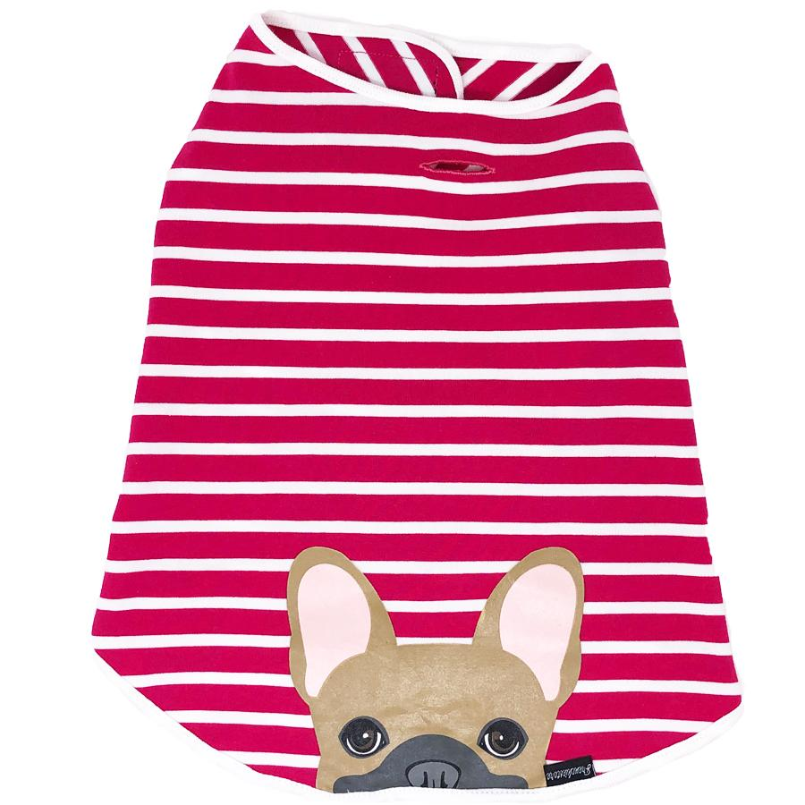 Fawn Frenchie Dog Anxiety Organic Shirt | Bubble Gum