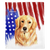 Golden Retriever Hundedecke | Patriotischer Hund in Aquarellen