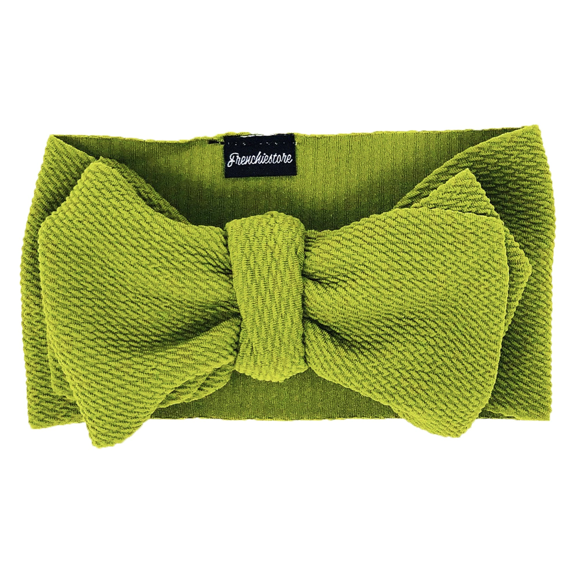 Frenchiestore Pet Head Bow | Manzana verde