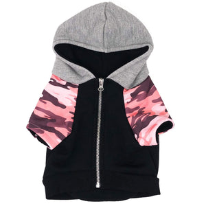 Frenchiestore Organic Hypoallergenic Hoodie - Pink Ultimate Camo