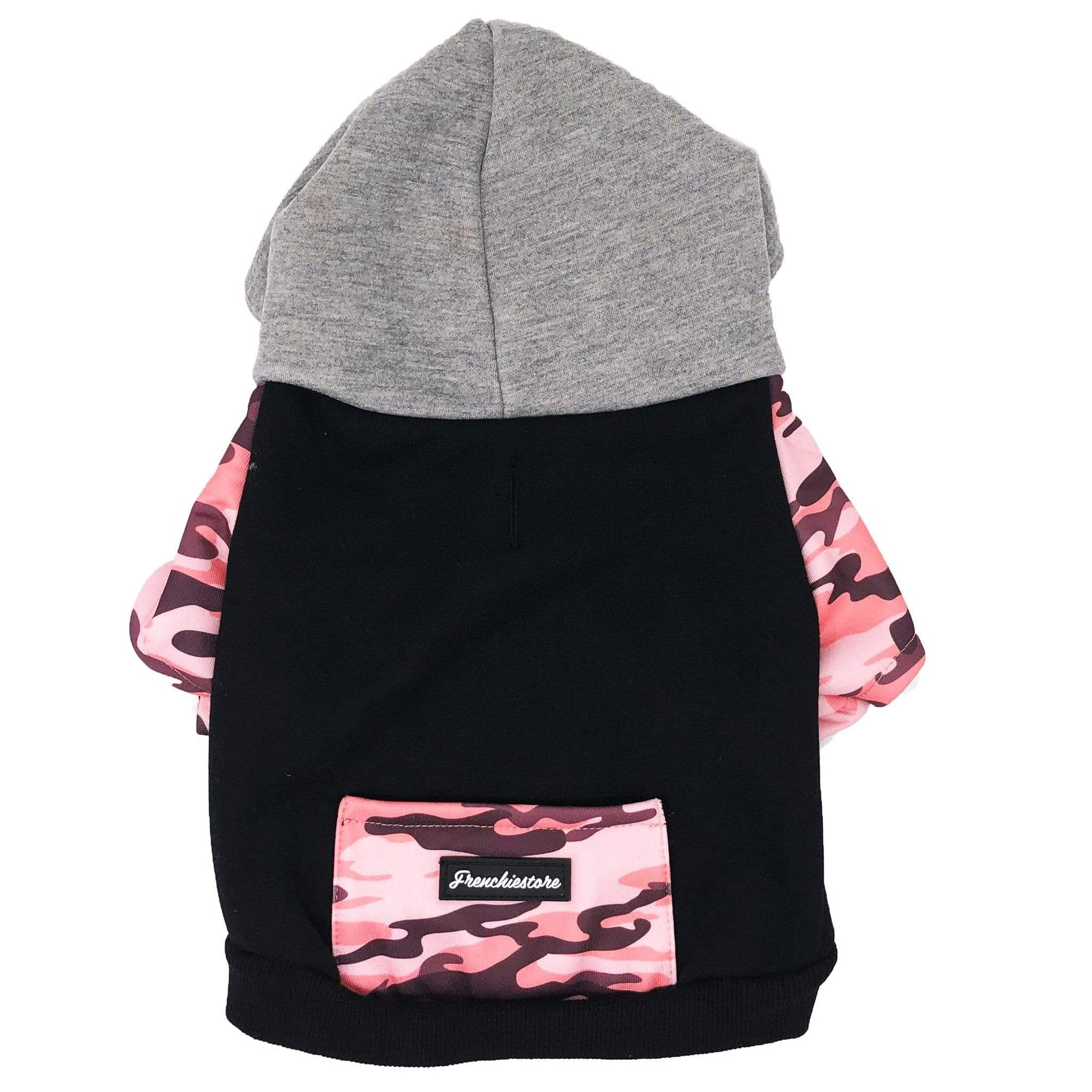 Sweat à capuche Bulldog français | Vêtements Frenchie | Pink Ultimate Camo