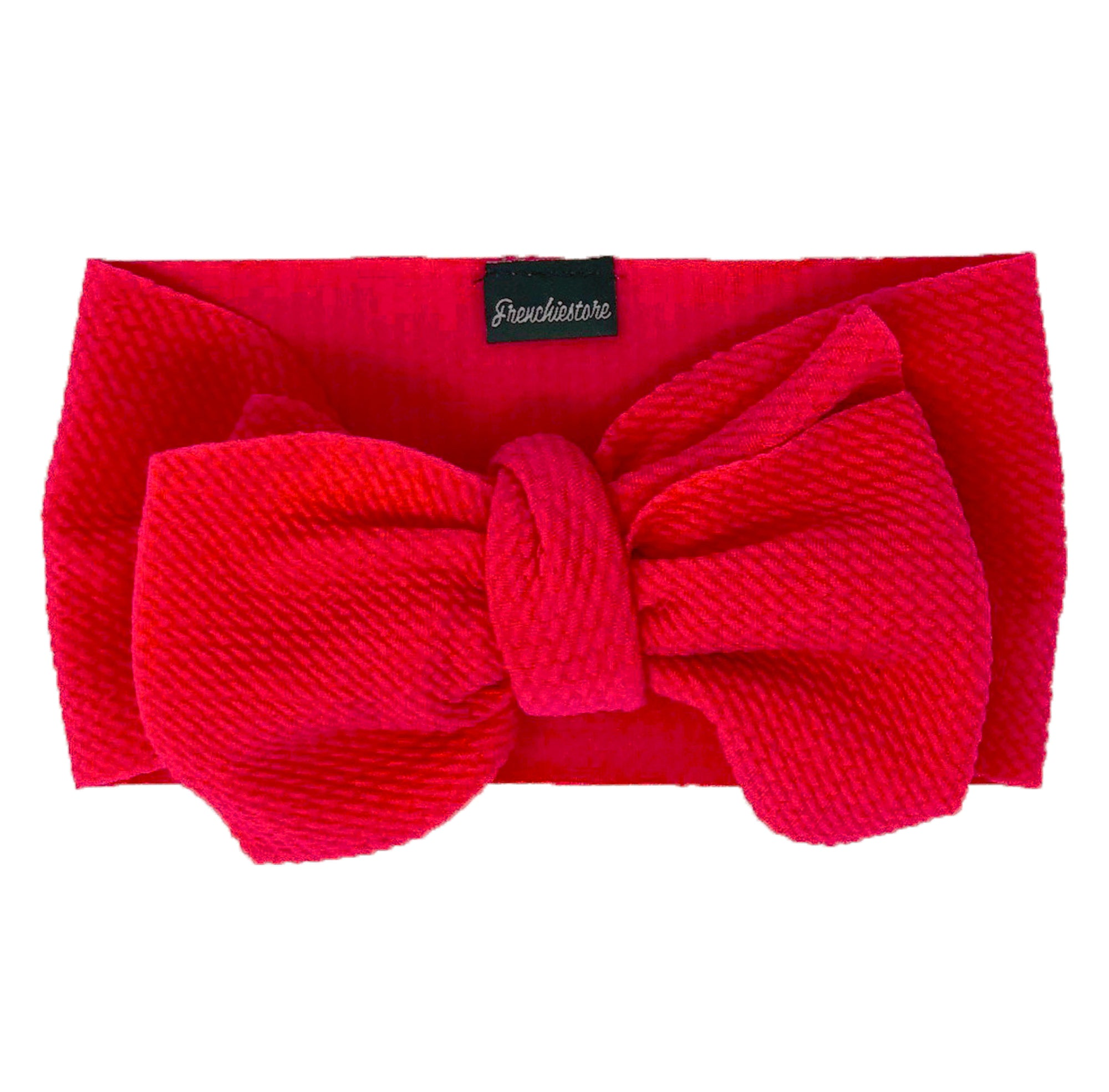 Frenchiestore Pet Head Bow | Rosa caliente