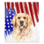 Couverture Golden Retriever USA patriotique