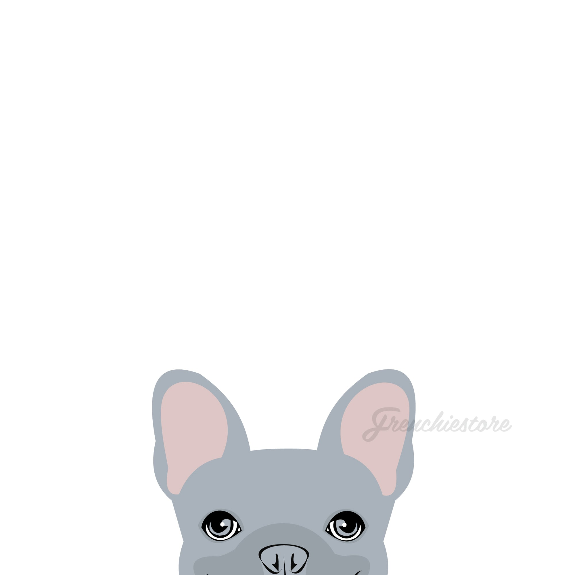 Autocollant Frenchie | Frenchiestore | Sticker voiture bouledogue français lilas