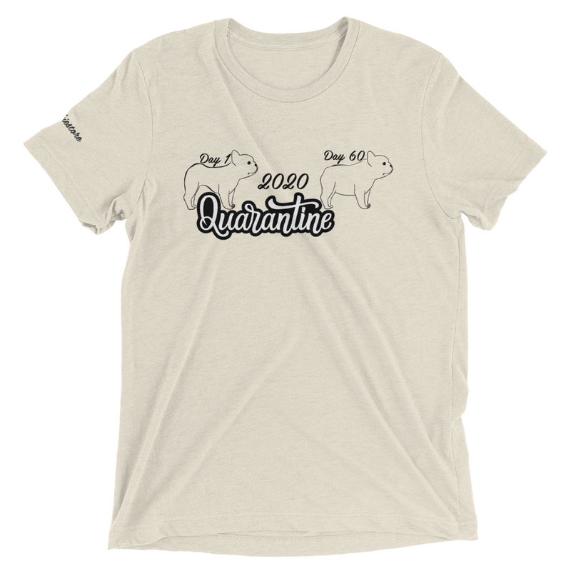 Quarantäne 2020 Lustiges Frenchie Tee | Frenchiestore Unisex T-Shirt