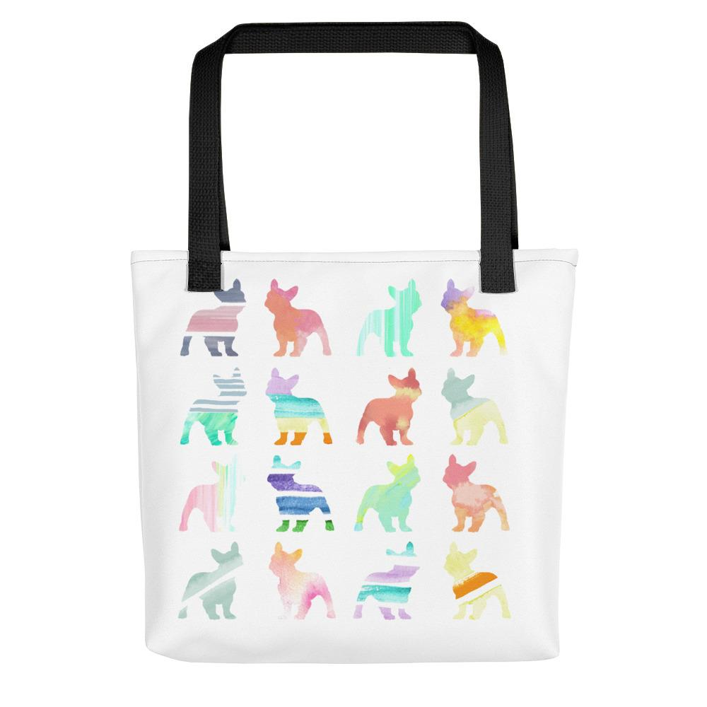 French Bulldogs in Watercolors | Frenchiestore Tote bag, Frenchie Dog, French Bulldog pet products