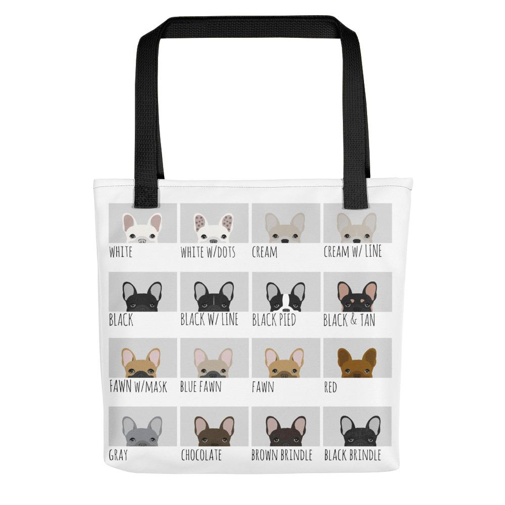 French Bulldog Colors | Frenchiestore Tote bag, Frenchie Dog, French Bulldog pet products
