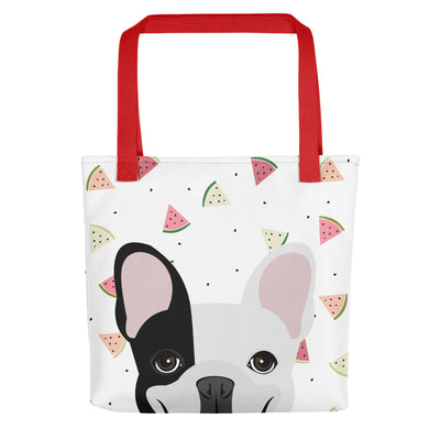 Frenchie with Watermelons Tote bag