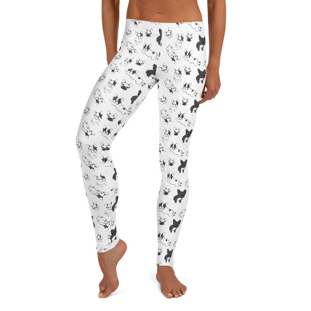 French Bulldogs on Black & White | Frenchiestore Leggings, Frenchie Dog, French Bulldog pet products
