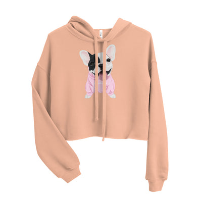 Netter Frenchie Welpe | Frenchiestore Crop Hoodie