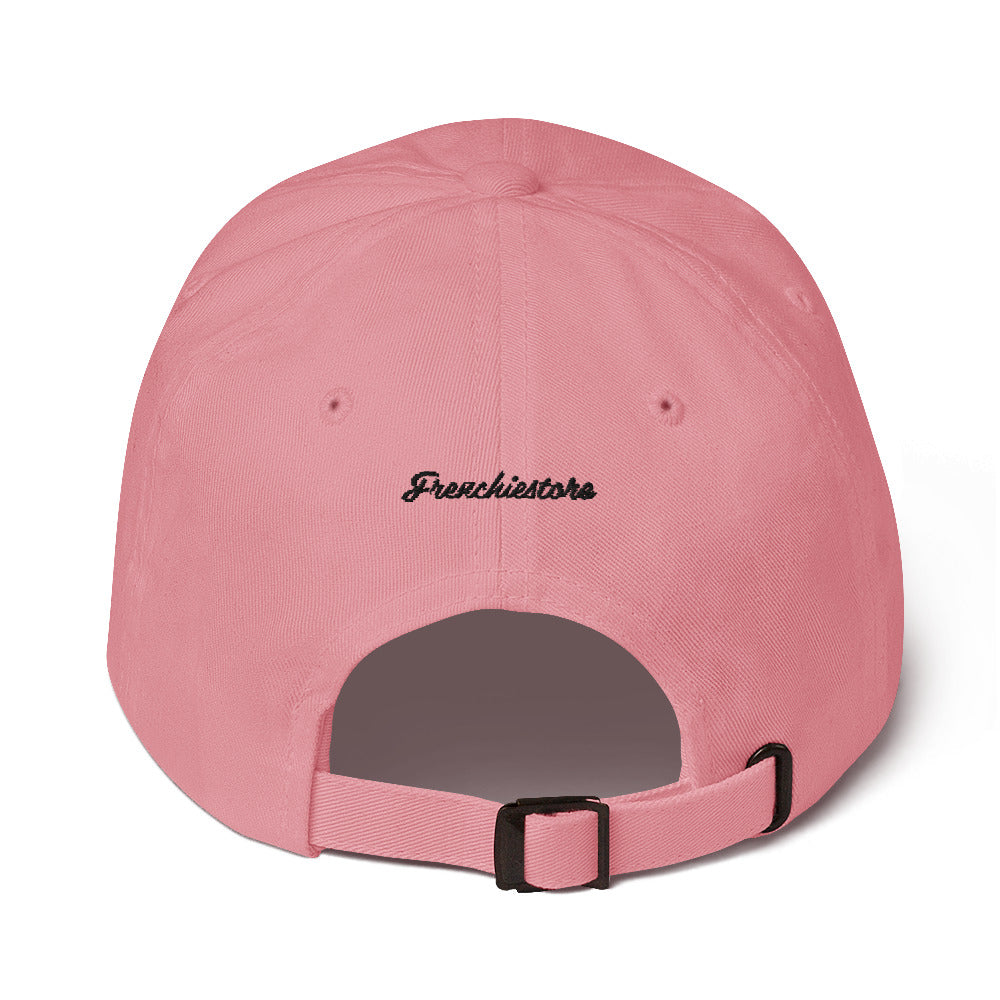 Stay Pawsitive | Frenchiestore Embroidered Hat in pink