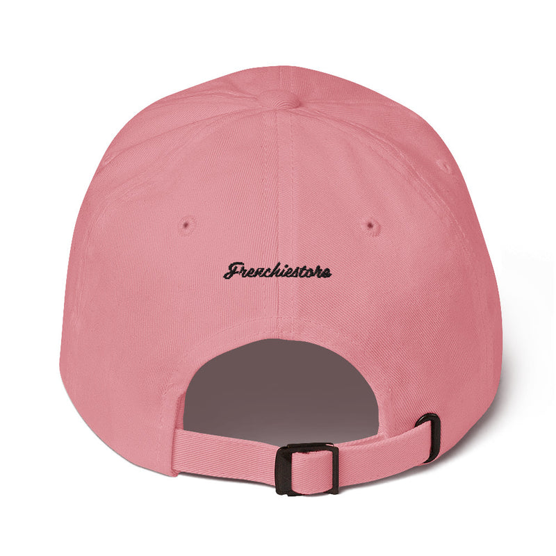 Bleib pawsitiv | Frenchiestore Bestickter Hut in Pink