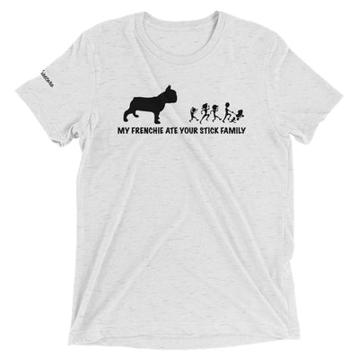 Mein Frenchie aß deine Stockfamilie | Frenchiestore Unisex T-Shirt