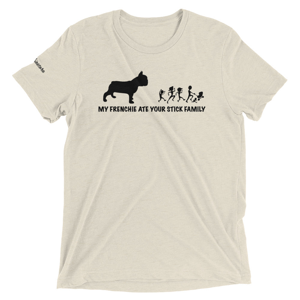 My Frenchie Ate your Stick Family | Frenchiestore Unisex t-shirt