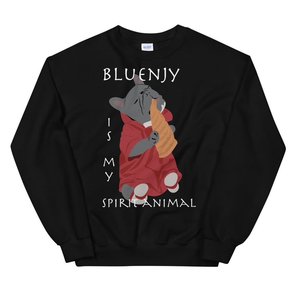 Bluenjy is My Spirit Animal | Frenchiestore Unisex Sweatshirt, Frenchie Dog, French Bulldog pet products