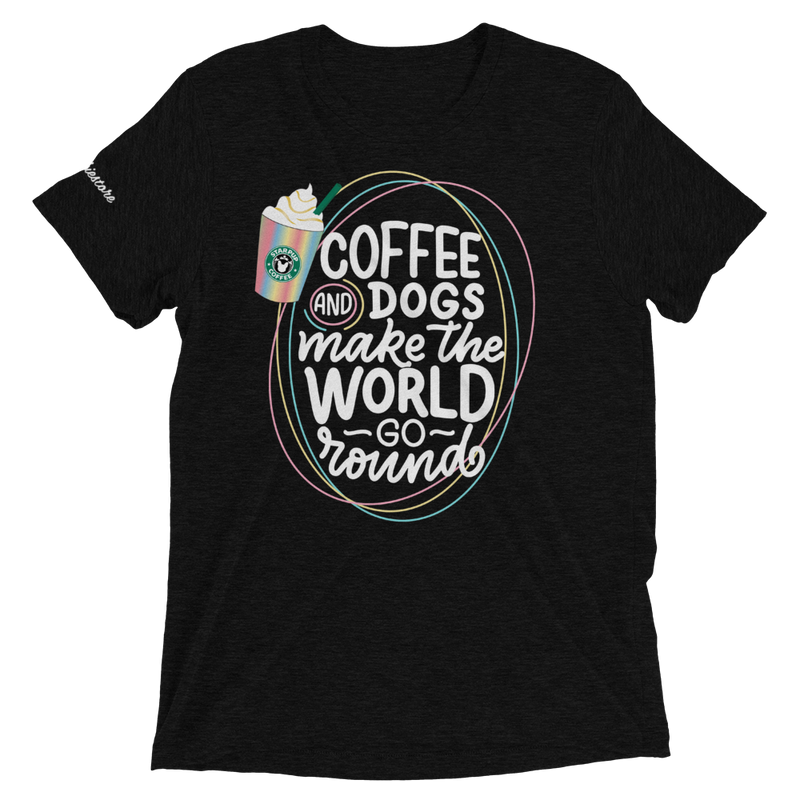 Coffee and Dogs Make The World Go Round | Frenchiestore Unisex t-shirt