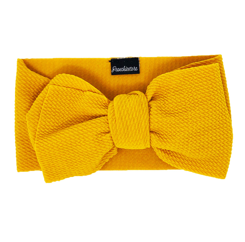 Frenchiestore Pet Head Bow | Mostaza
