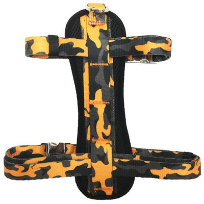 Frenchiestore Adjustable Health Harness | Mustard Camo
