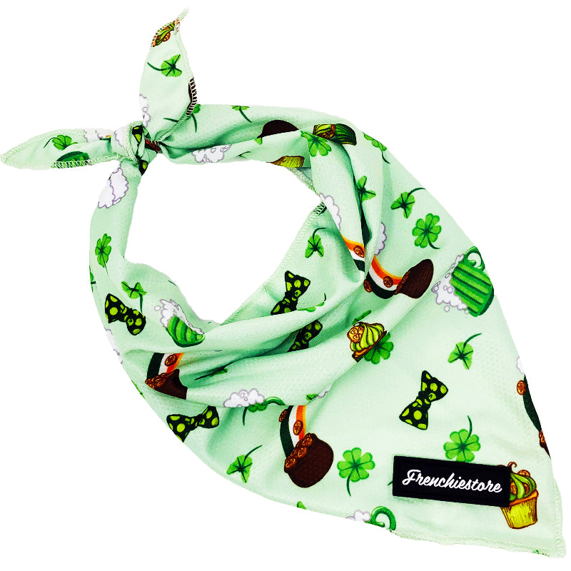 Frenchiestore Dog Cooling Bandana | Green Luck
