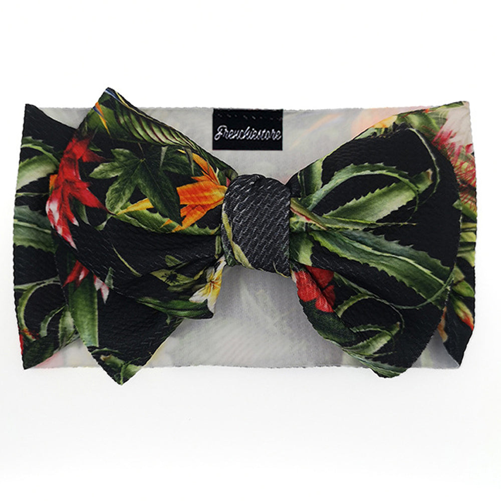 Frenchiestore Pet Head Bow | Tropical Night