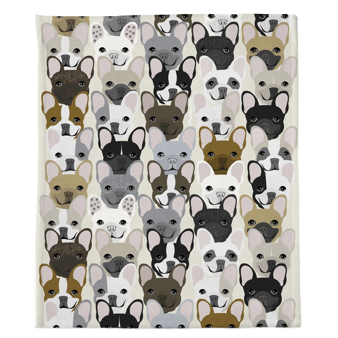 Frenchie Blanket | Frenchiestore | French Bulldog Pattern