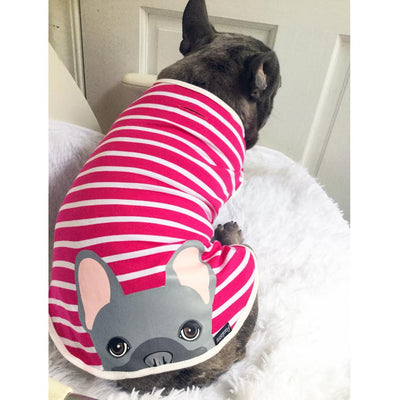 cute blue frenchie bum organic custom frenchie store clothing