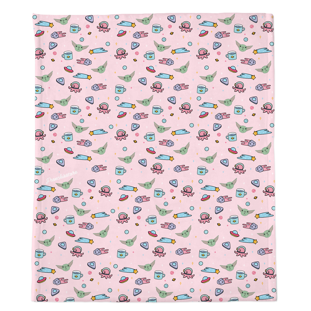 Frenchie Blanket | Frenchiestore | The Child on Pink
