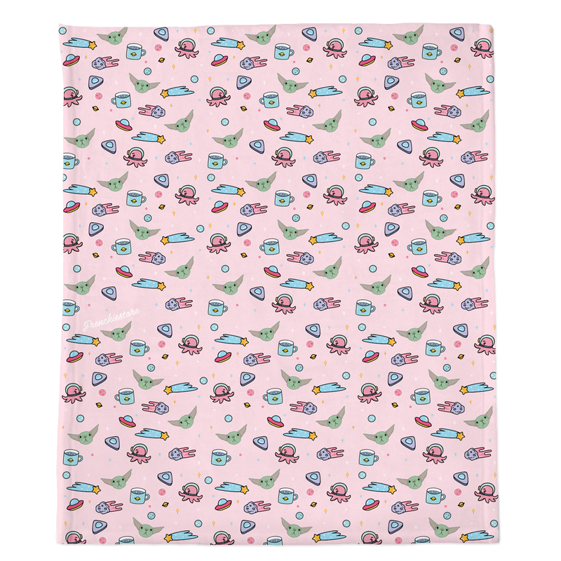 Couverture Frenchie | Frenchiestore | L'enfant sur rose