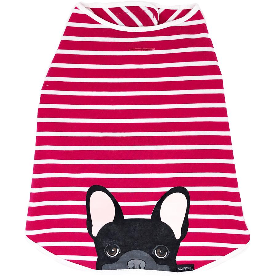 Frenchie Shirt | Frenchiestore | Bouledogue français noir au bubble-gum