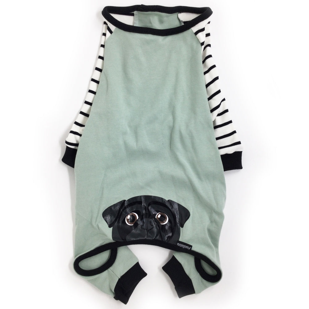 Pug Pajamas | Pug Dog Clothing | Black Pug dog