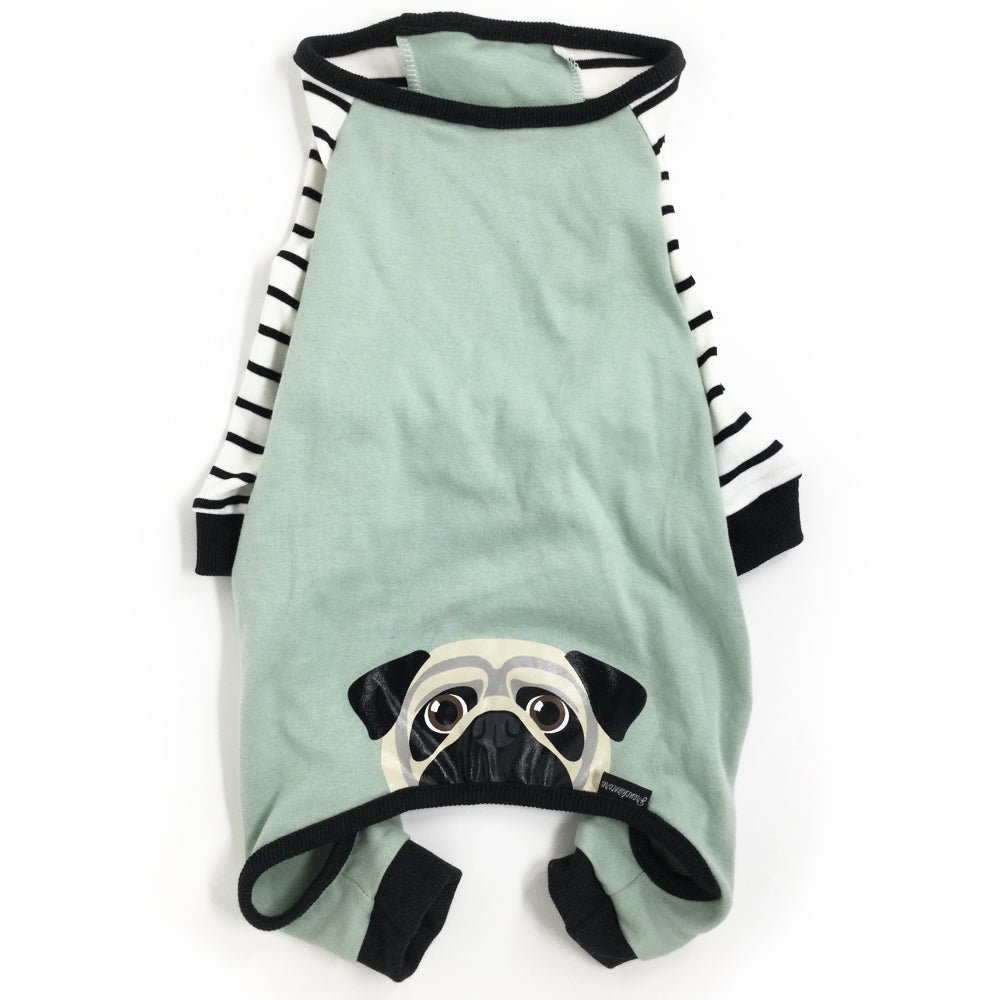 Pug Pajamas | Pug Dog Clothing | Fawn Pug dog