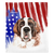 Patriotic Saint Bernard Blanket | American dog in Watercolors