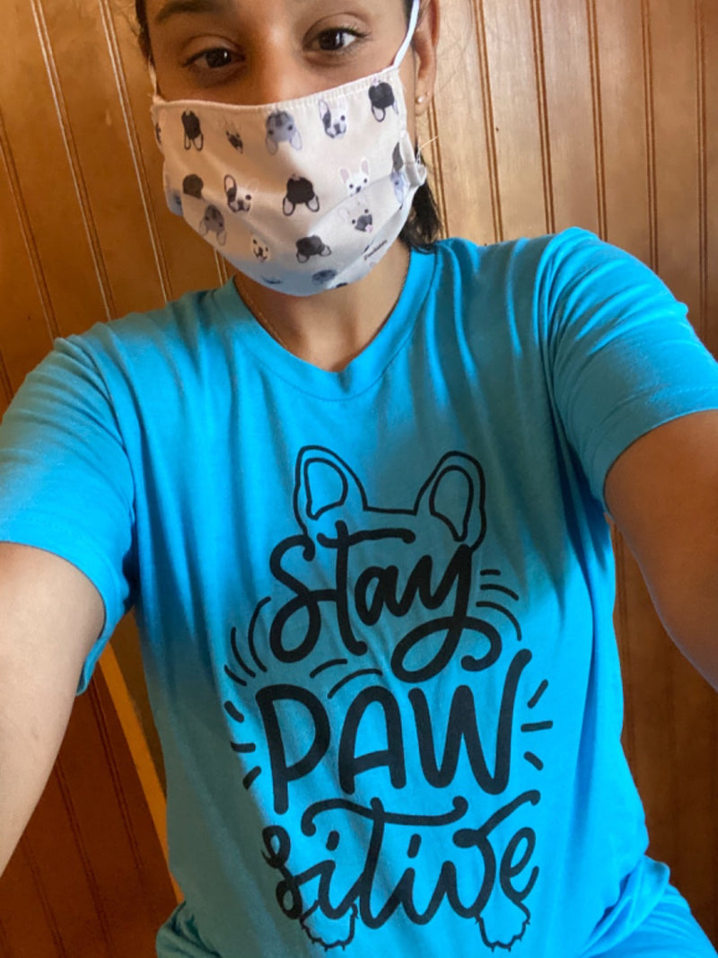Stay Pawsitive Frenchie Tee | Frenchiestore Unisex T-Shirt
