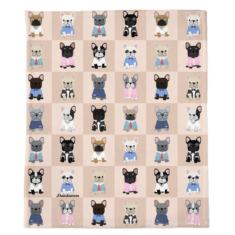 Frenchie Blanket | Опрятные французские бульдоги на загар