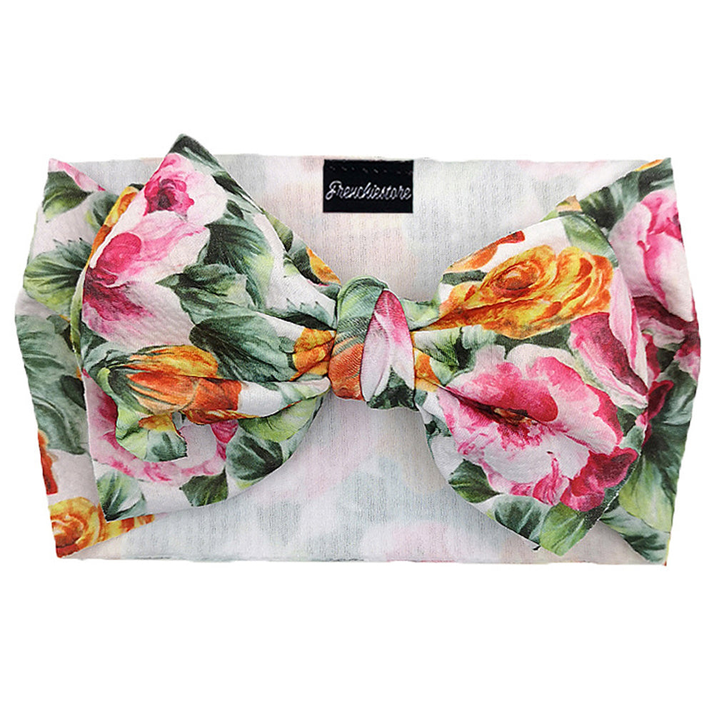 Frenchiestore Pet Head Bow | Tropical Roses