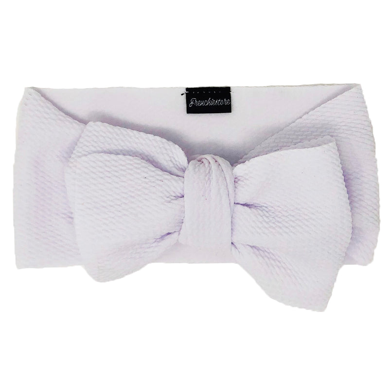 Frenchiestore Pet Head Bow | White