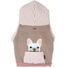 Sweat à capuche Bulldog français en rose | Vêtements Frenchie | Chien Frenchie blanc