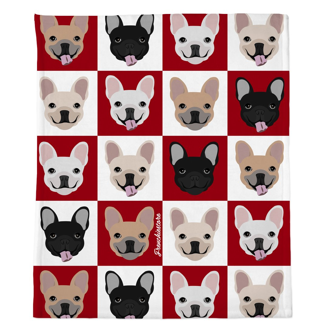 Frenchie Blanket | Frenchiestore | Bulldogs franceses Vino en punto