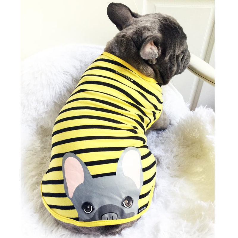 Blue Frenchie Dog Anxiety Organic Shirt | Bumblebee