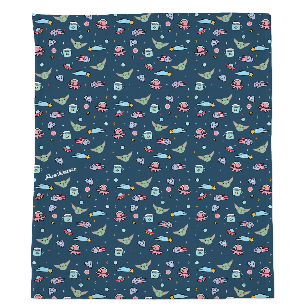 Frenchie Blanket | Frenchiestore | The Child on Blue
