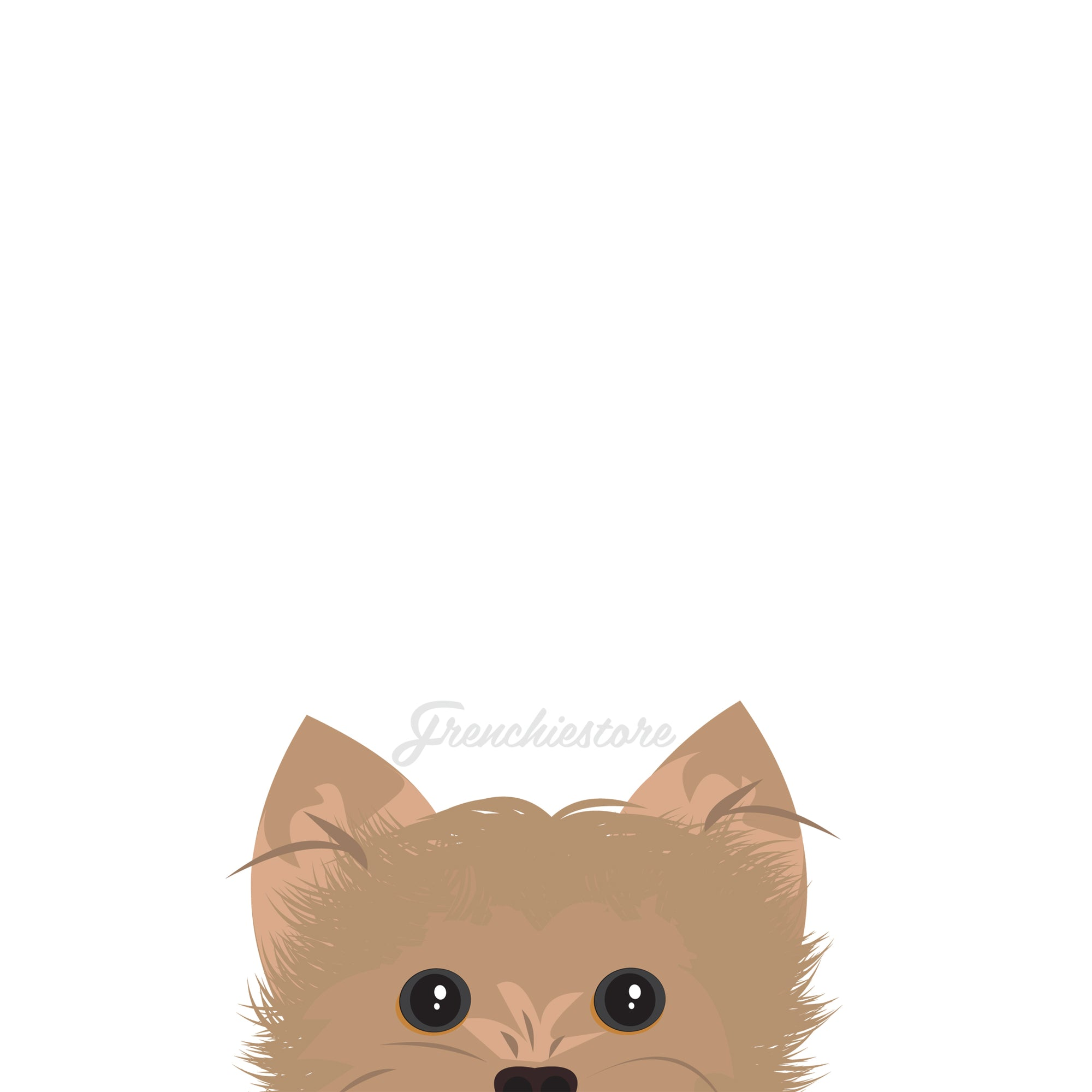 Yorkie chien autocollant | Frenchiestore | Sticker voiture Yorkshire Terrier