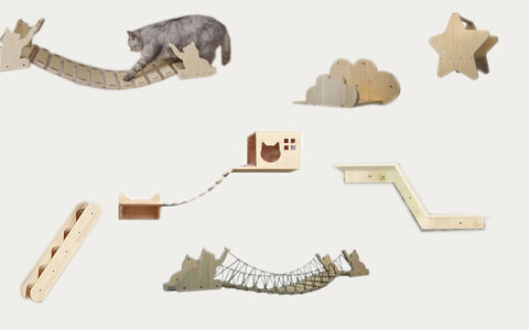 Wall mounted Cat wall structures is definitely the most recent advancement in cat furniture. It was created by combining fantastic ideas, different cat furniture arrangements that create an interesting playground for your cats.